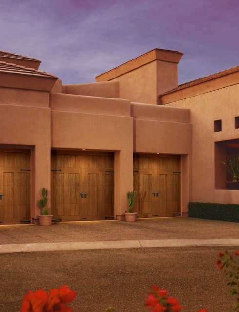 Faux wood garage doors southwestern garage other by clopay building products - Top notch image of home exterior decoration with clopay garage door ideas ...