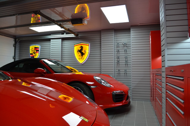 Ferrari And Porsche Garage Contemporary Garage