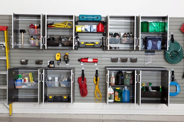 Flow Wall Storage Solutions traditional garage and shed