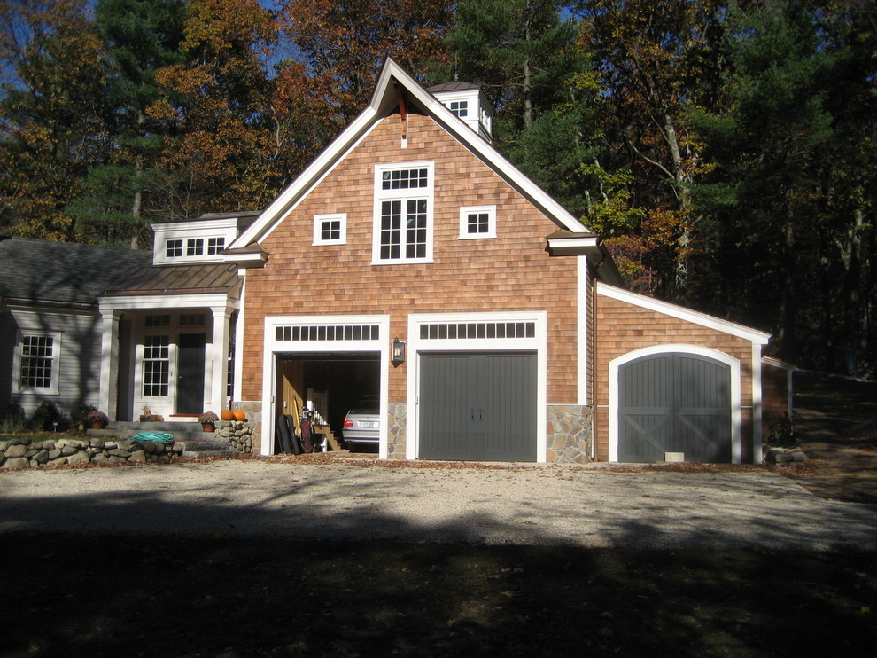 Inspiration for a timeless garage remodel in Boston