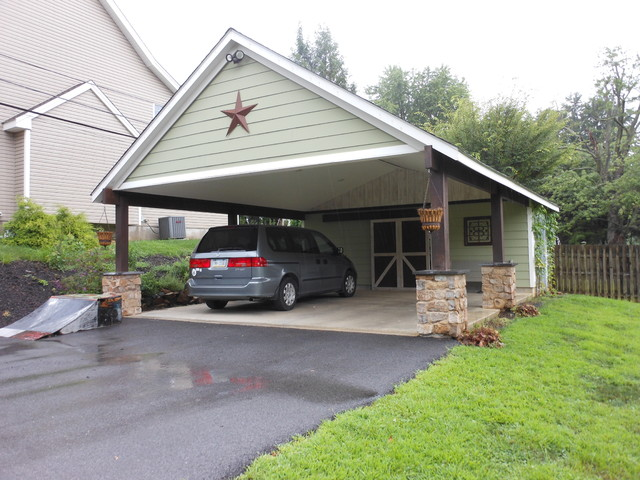 Garage building carport in west chester pa traditional garage philadelphia by tatcor - How much to build a one car garage ...
