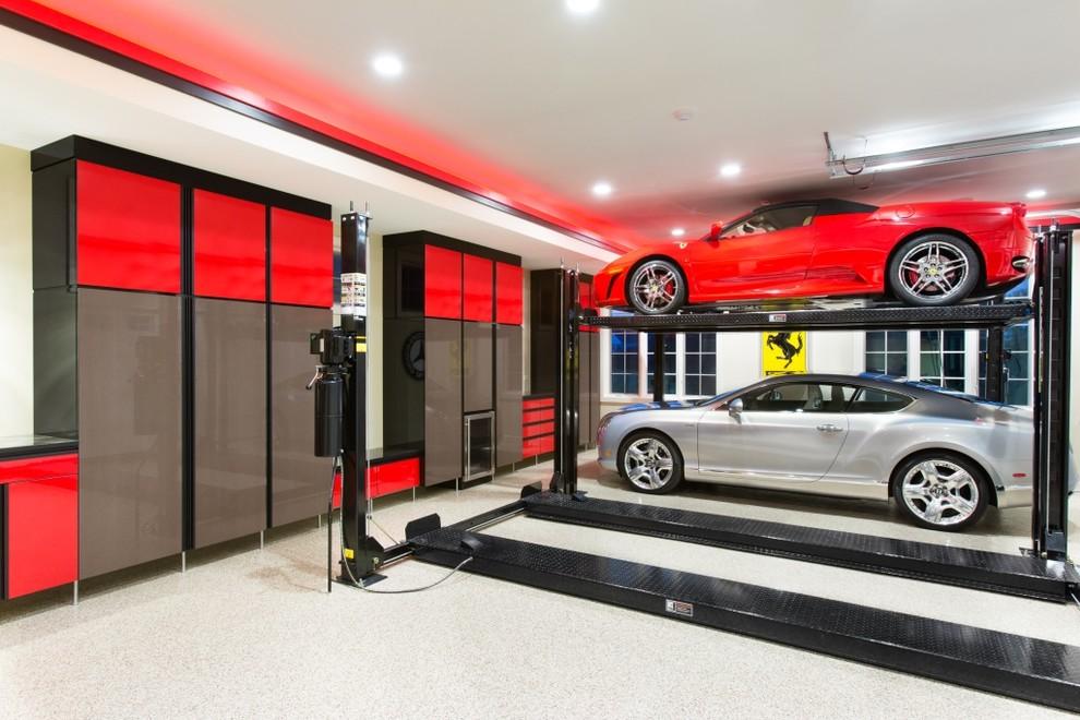 Trendy garage workshop photo in Chicago