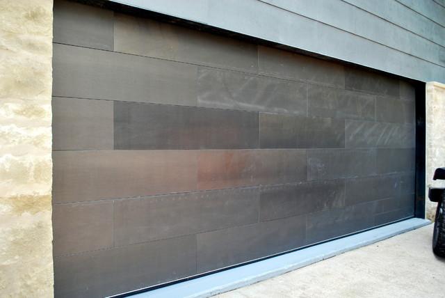 Garage Door Clad In Paint Grip Steel Contemporary