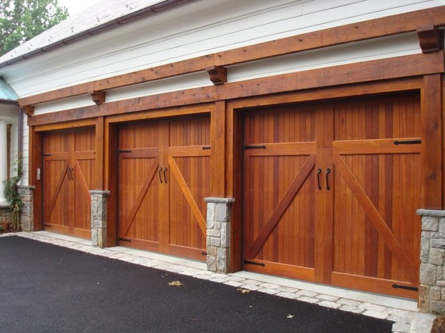 Garage Doors - Traditional - Garage - DC Metro - by Clingerman Doors - Custom Wood Garage Doors