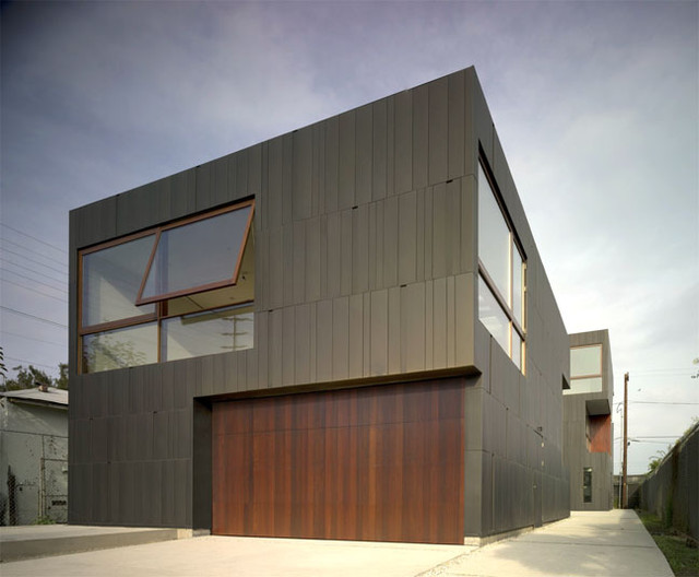 Garage Entry contemporary-garage-and-shed