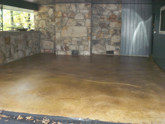 Garage Floor with Loden, Henna & Tuscan Gold - Traditional - Garage And Shed - other metro - by ...