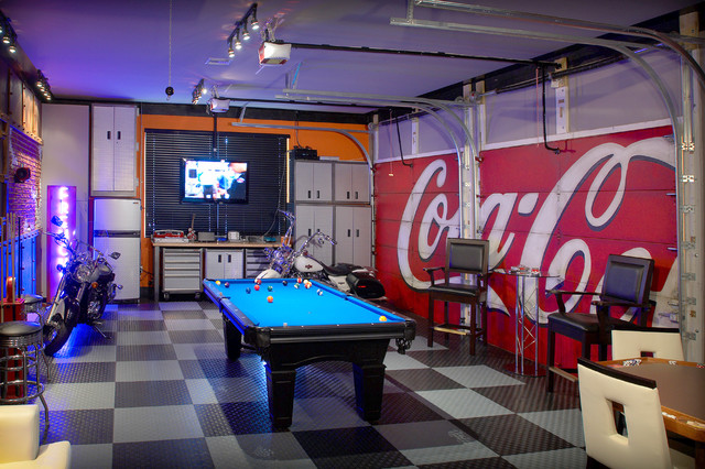 Garage Game Room : industrial garage from www.houzz.com size 640 x 426 jpeg 126kB