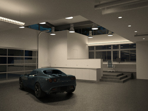 Modern Garage And Shed Indoor Lighting
