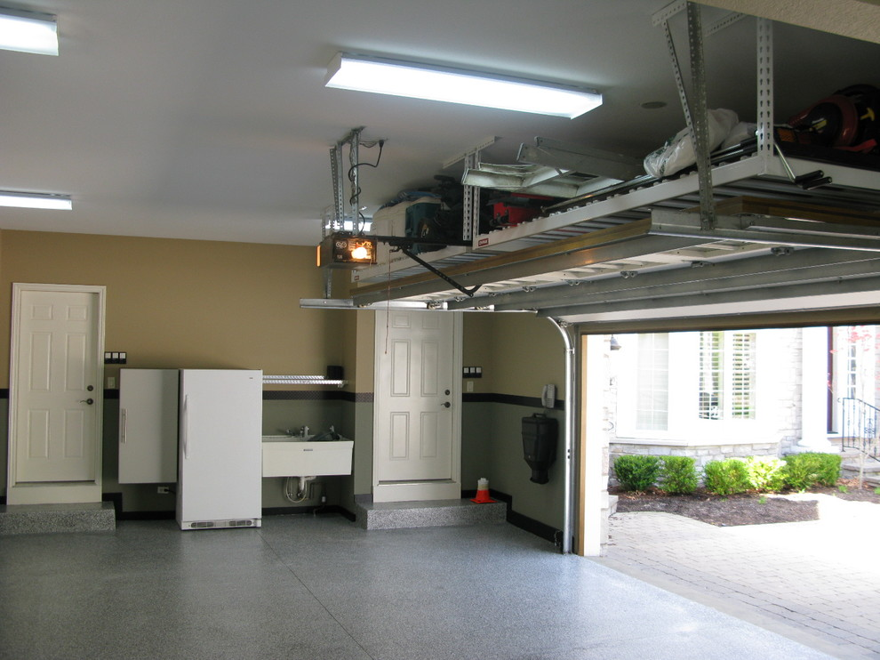 Inspiration for a contemporary garage remodel in Other