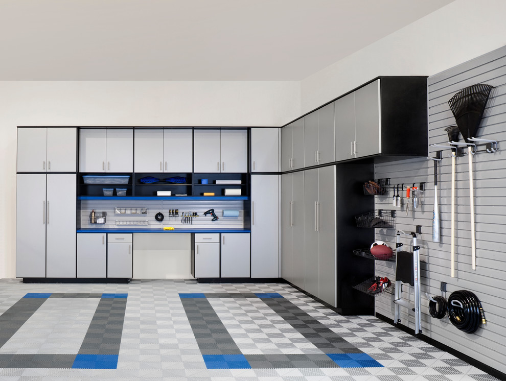 Inspiration for a contemporary garage remodel in Philadelphia