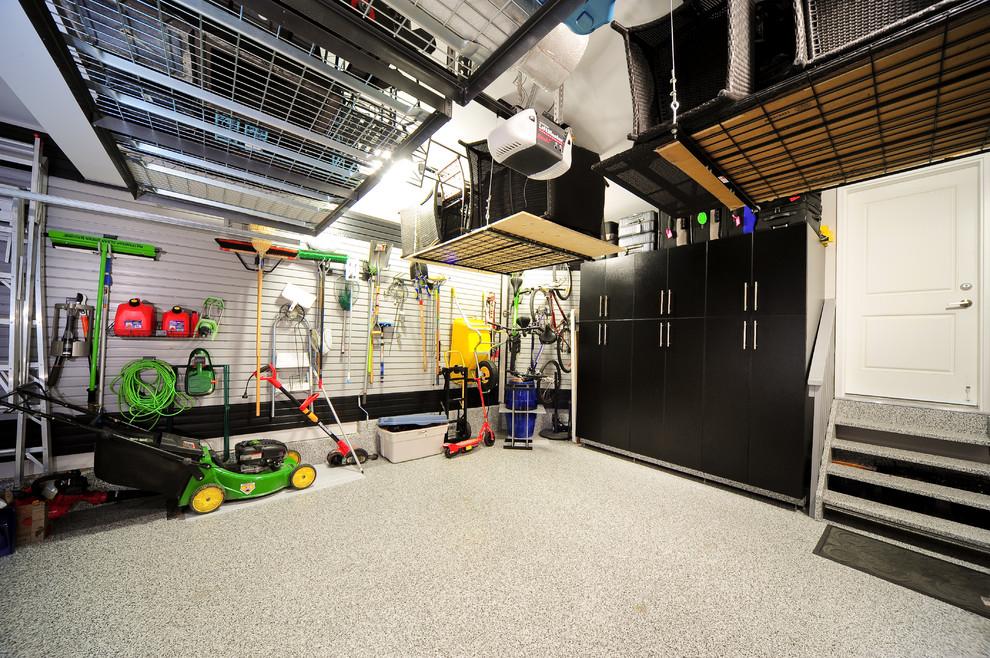 Example of a trendy garage design in Calgary