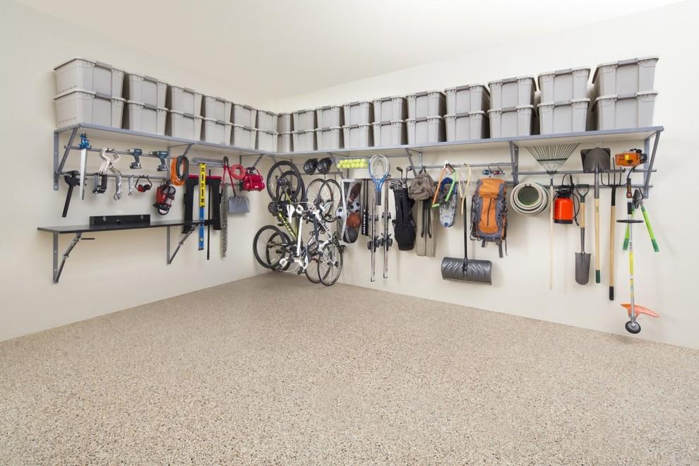 Garage - mid-sized traditional two-car garage idea in Atlanta