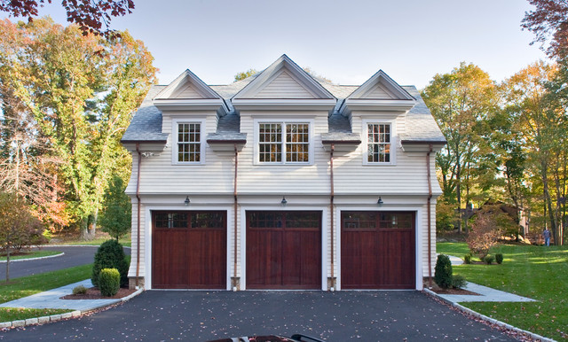 Georgian colonial style in stamford ct traditional for Colonial garage