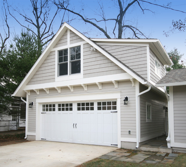 Glenridge street craftsman garage and shed for Garage additions with living space above