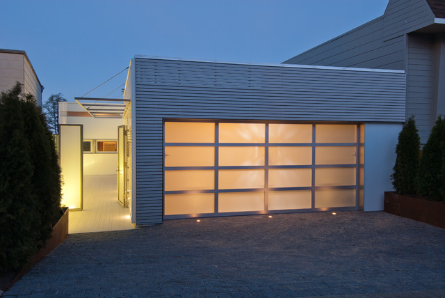 Outdoor garage lights houzz minimalist entryway photo in san francisco with a glass front door aloadofball Choice Image