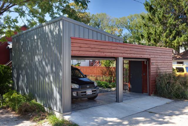green garage contemporain garage chicago par tom bassett dilley architect ltd. Black Bedroom Furniture Sets. Home Design Ideas
