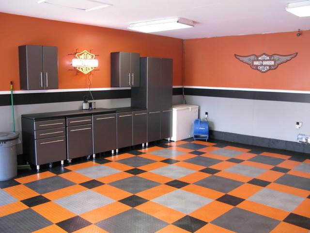 harley davidson garage decorating ideas - Harley Davidson Garage Eclectic Garage And Shed
