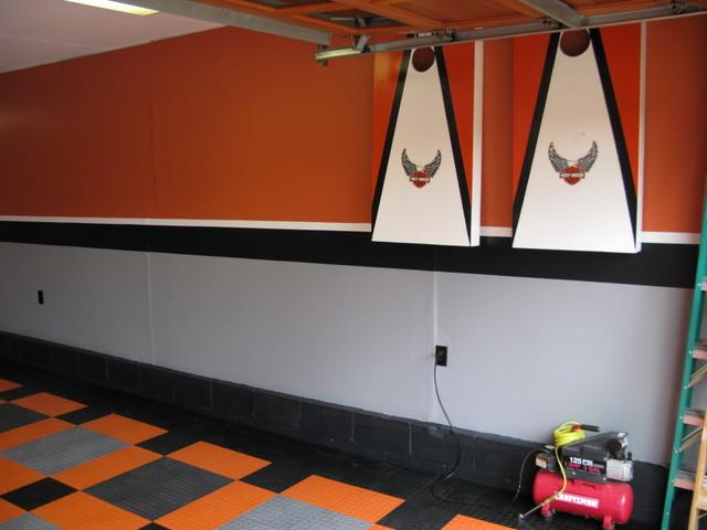 harley davidson garage - arts & crafts - garage - columbus -