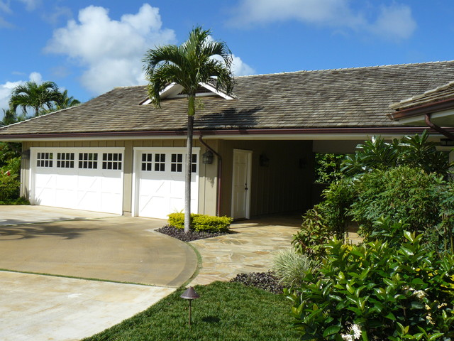 Hawaiian plantation style traditional garage other for Hawaiian plantation architecture