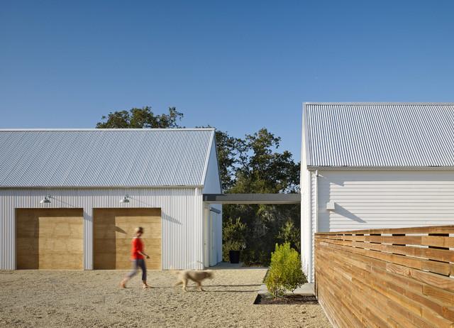 Healdsburg residence farmhouse garage and shed san for Garage fence