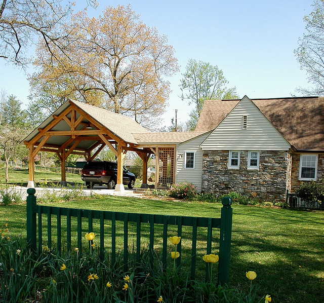 Heavy Timber Porte Cochere In East Tennessee Craftsman
