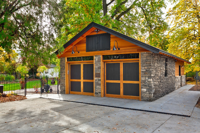 Historic Garage Remodel craftsman-garage
