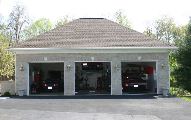Home Car Garage With Lift Traditional Other