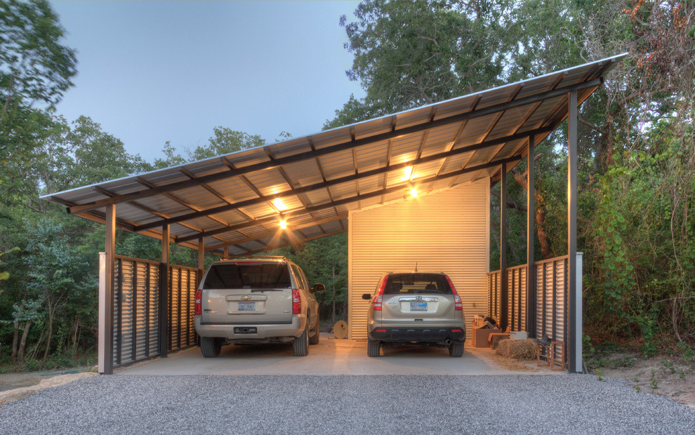 Home In The Woods Industrial Garage Dallas By Wintersole Architecture