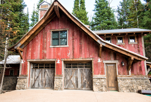 House in deer valley utah rustic garage and shed Wood valley designs