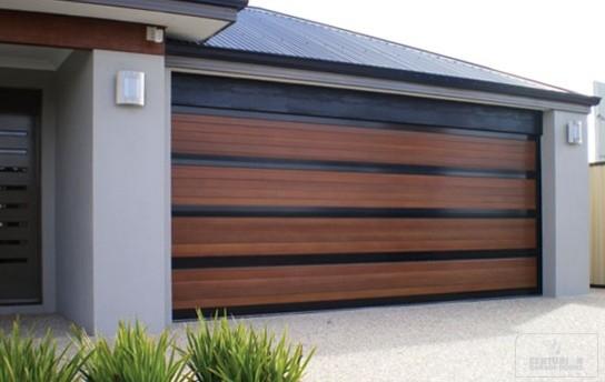 Impact Garages Wood Doors Modern Garage Miami by Impact
