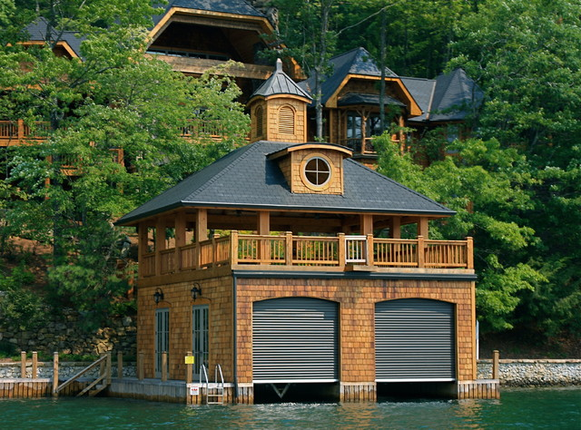 Lake burton boat houses traditional garage atlanta for Boat garages