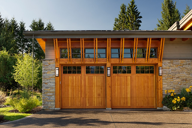 Lake Dream House Contemporary Garage And Shed