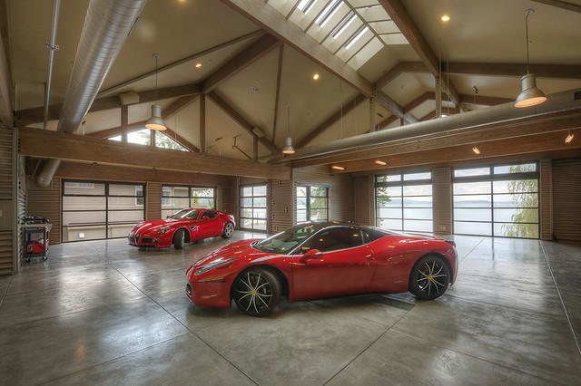 Lake washington waterfront house garage and adu garage for Piani di garage adu