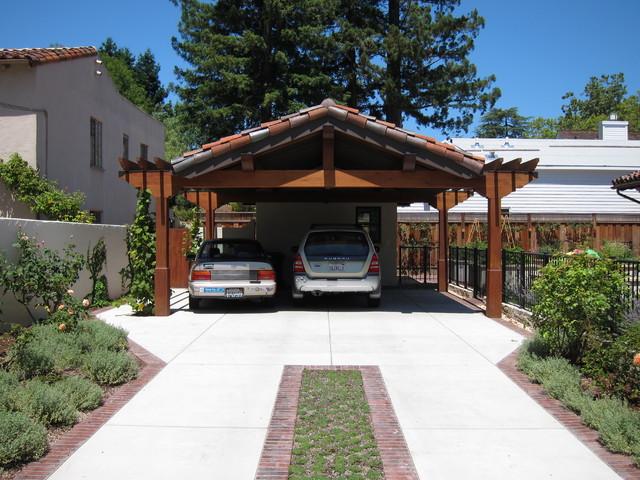 Leed platinum monterey colonial mediterranean garage for Brick carport