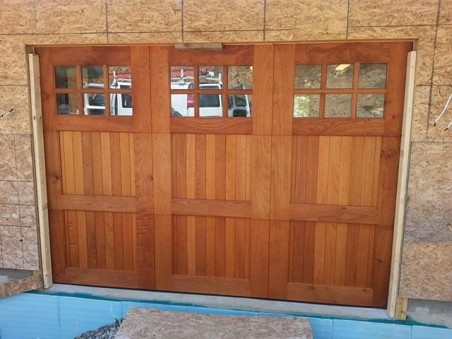 Mahogany Garage Doors Carriage Doors Contemporary