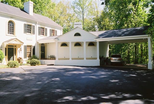 Master suite conversion klassisk garage atlanta af william sisk designs Garage conversion master bedroom suite