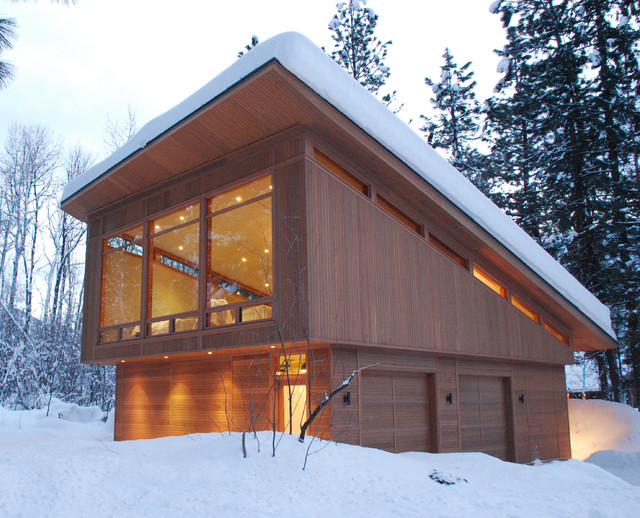 Mazama guest cabin modern garage and shed seattle Garage cabins