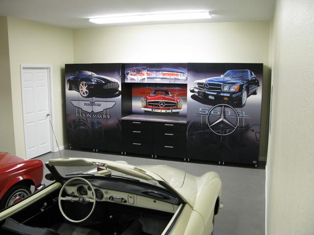 Man Cave Storage Solutions : Mercedes man cave modern garage birmingham by