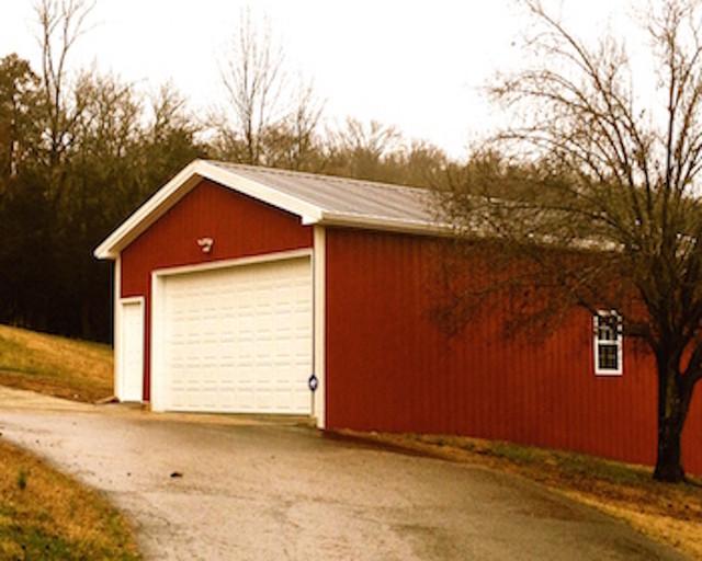 Metal pole barn garage clarksville tn country garage for Pole barns tennessee
