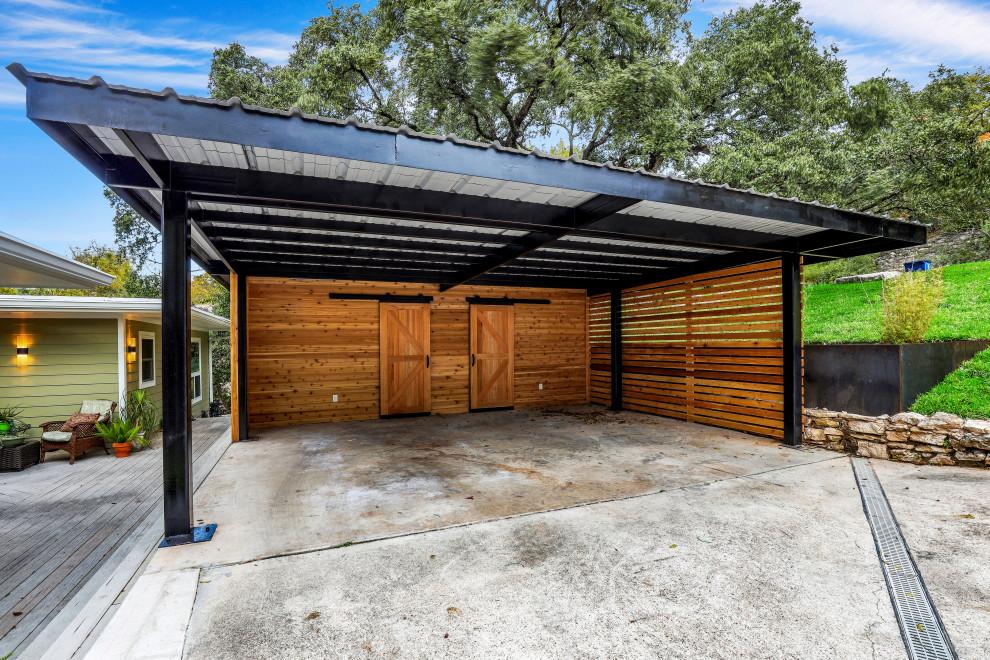 Modern Carport w/ Planters - Contemporary - Garage ...