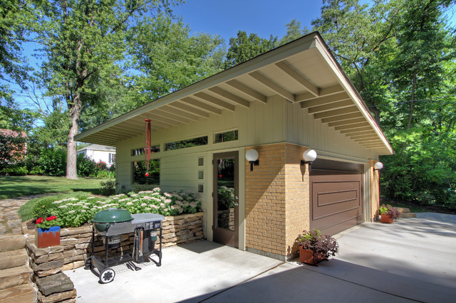 modern detached garage midcentury garage st louis