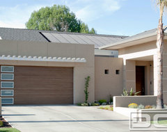 Modern Garage Doors Built for a Custom Home in Visalia CA by Dynamic Garage Door contemporary-garage-and-shed