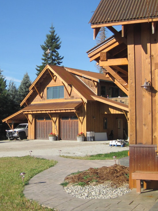 Craftsman Country Style Garage And Shed Design Ideas