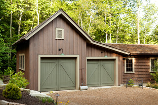 Mountain High Style Rustic Garage And Shed Other