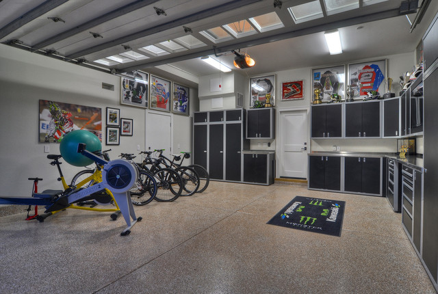 finished room over garage ideas - Newport Beach Garage Contemporary Garage And Shed