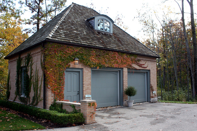 North shore residence garage traditional garage and for Brick garage designs