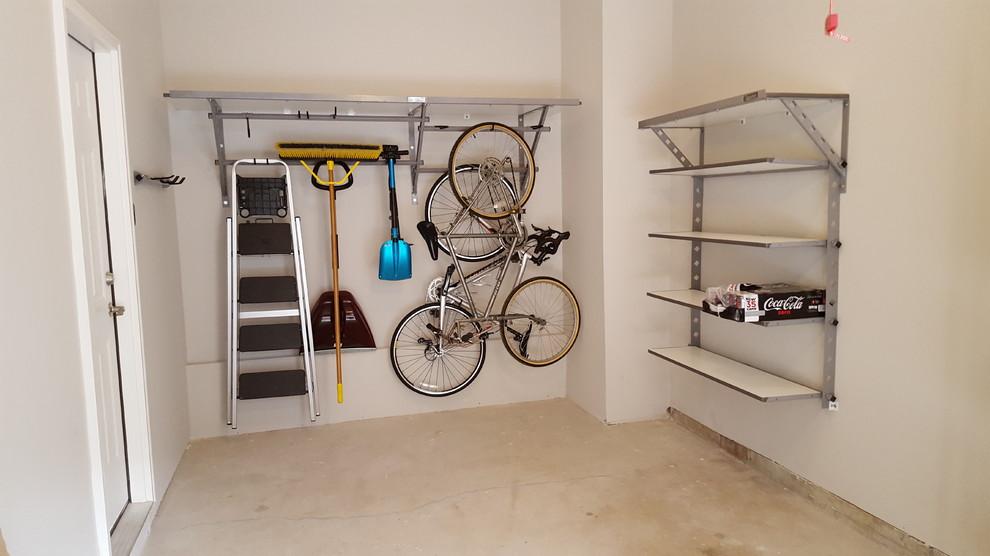 One Car Garage Shelving Organized With Monkey Bars Storage Transitional Garage Philadelphia By Dream Garage Remodeling Co