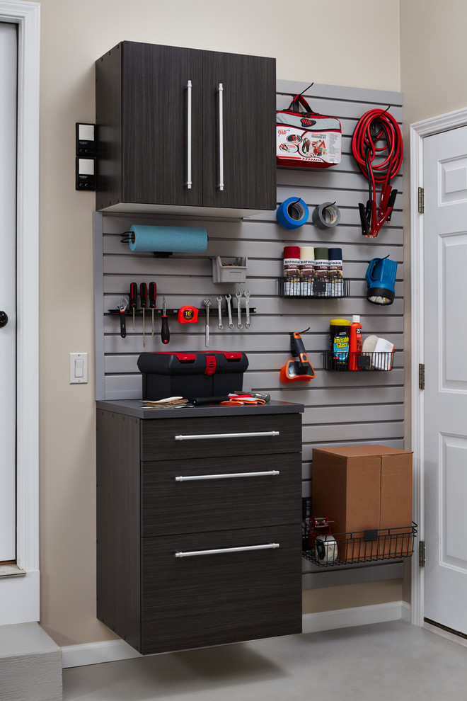 Inspiration for a transitional garage remodel in Grand Rapids