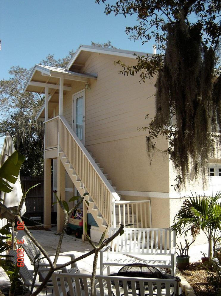 Outside Stairs To Bonus Room Craftsman Garage Tampa By Design Freedom Inc