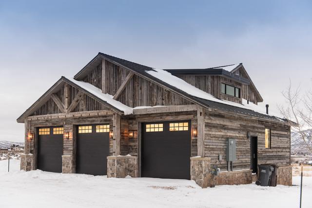 Park City Reclaimed Home Rustic Garage Salt Lake